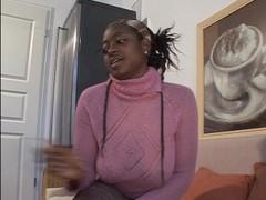 Black German chick masturbates - DBM Video Thumb