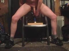 Solo guy fucking a dildo Thumb