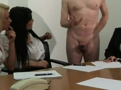 Office babes get a hard priority project at work Thumb