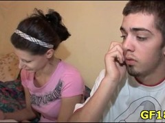 Fellow sells his sweet-looking teen girlfriend to one handsome stranger for some cash. Thumb