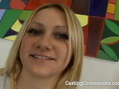 Sexy Kelly Rose deepthroats his cock in order to pass her first audition. Thumb