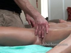 Sexy brunette has her pussy massaged and slowly teased Thumb