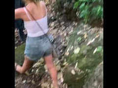 Public sex with a beautiful blonde german girl at the Mountain Thumb