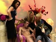 Dirty females watch their friend fuck and suck cock Thumb
