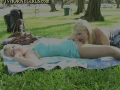 Sandy And Yana Sex In Public Park Thumb