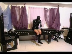 Naughty slave girl in latex gets tied up and tortured by her master Thumb