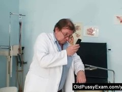 Skinny milf weird pussy fingering by gyno doctor Thumb