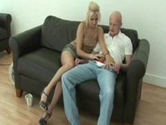 Hungry blonde eats dick with lucky guy Thumb