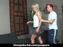 Blonde whore Angela Stone hardcore sex with thin long cock! Thumb