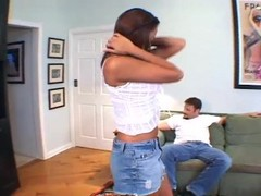 Sexy little latin babe takes two loads  - DNA Thumb