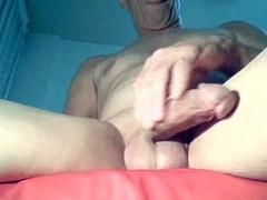 Hot Mature Man masturbating her wet juicy cock Thumb