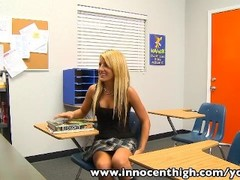 InnocentHigh Bigtits blonde schoolgirl Holly Taylor fucks prof Thumb