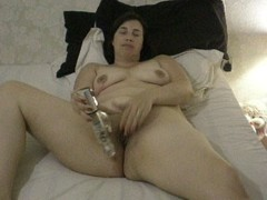Holly Wife Playing with her vibrator Thumb