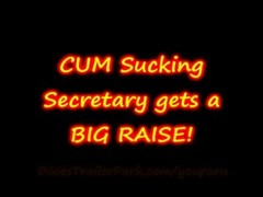 CUM Sucking MILF Secretary gets a BIG RAISE Thumb