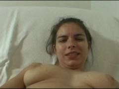 Amateur Zuzinka fucks her pussy with glass dildo Thumb