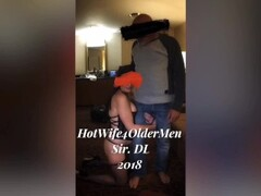 Submissive HotWife used by older bull in front of cuckold husband Thumb