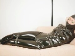 Asian beauty Mina full leather hogtied Thumb