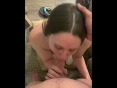 Step sister deepthroats and swallows all my cum Thumb