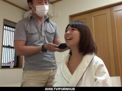 Busty Wakaba Onoue fucked by hubby in the bathroom - More at 69avs com Thumb